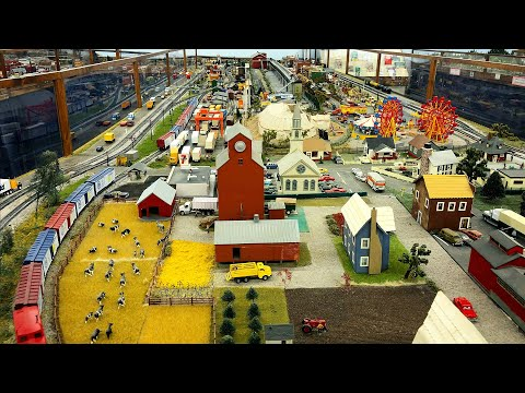 Beautiful Large Private Model Railroad HO Scale Gauge Train Layout at the Crossville MRC – Part 2