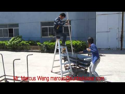 Suntask solar vacuum tube impact resistance test, max.test height 2.0 m