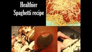 How to cook healthier spaghetti The Rachel Dixon wheat pasta ground turkey tutorial family diy easy