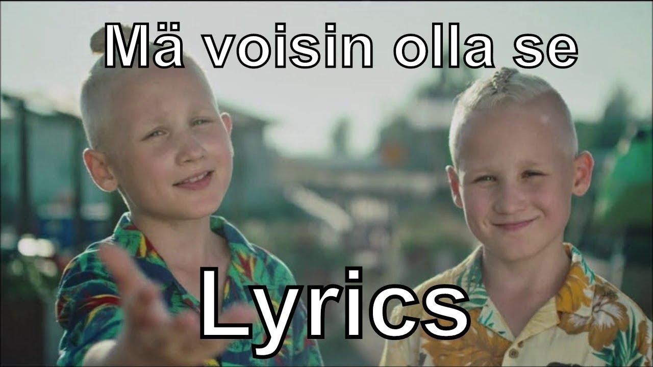 Eino ja Aapeli - Mä voisin olla se (Lyrics) #1