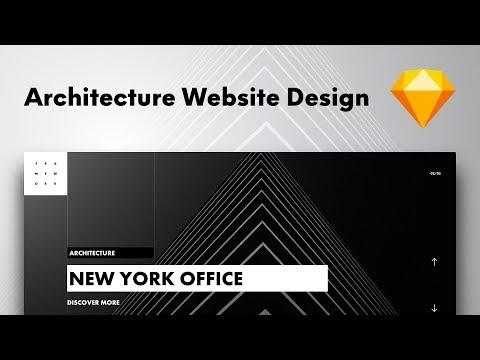 Architecture Website Design   Framework (UI Design in Sketch #03)