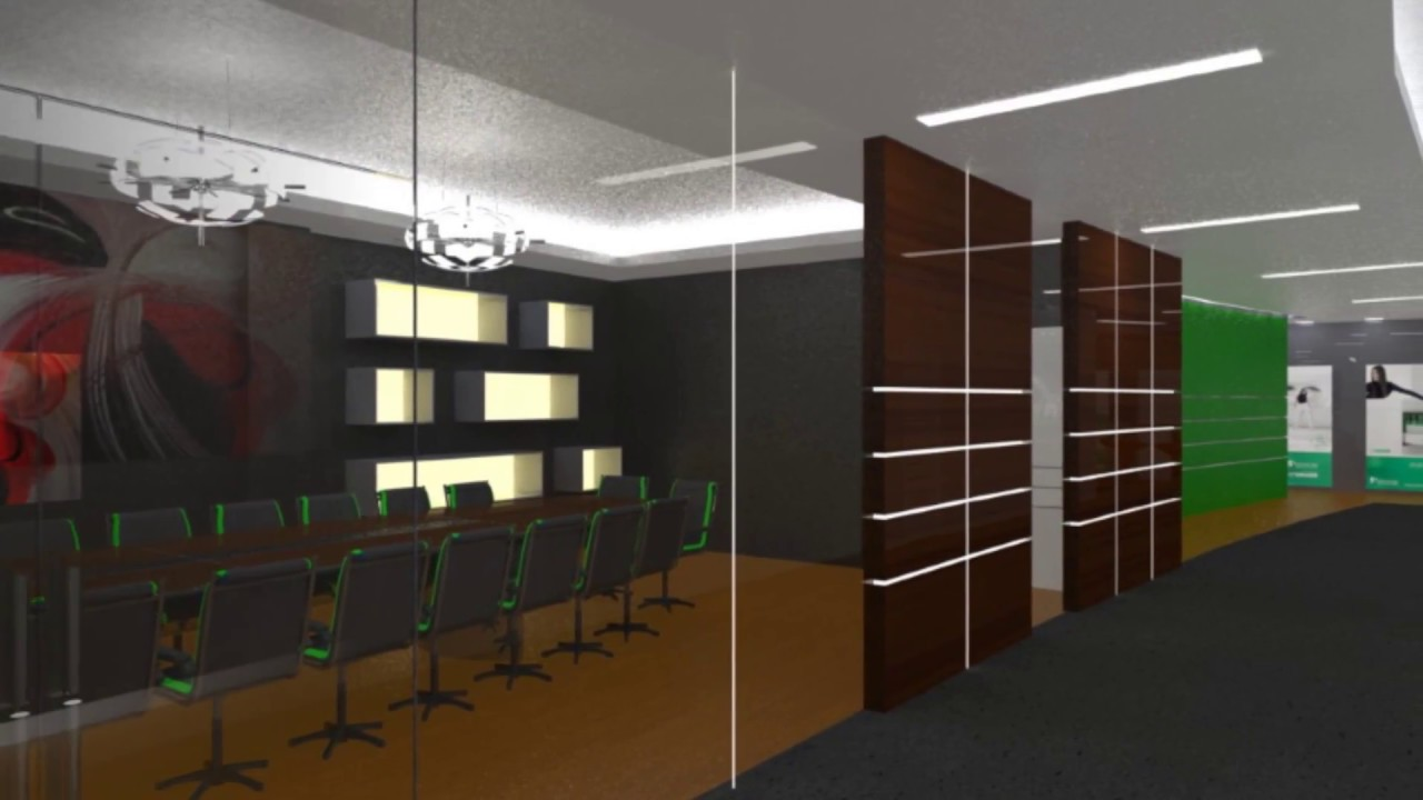 Solidworks 3d domicile head office design youtube for Interior design simulator free