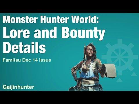 Monster Hunter World: Lore and Bounty Info