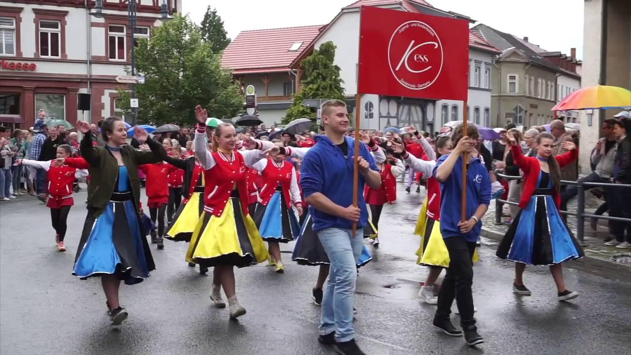 festumzug rosenfest 2016 kranichfeld youtube