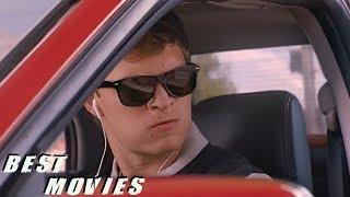 Красная Subaru Уходит от Погони.(Малыш на Драйве) | Best Movies