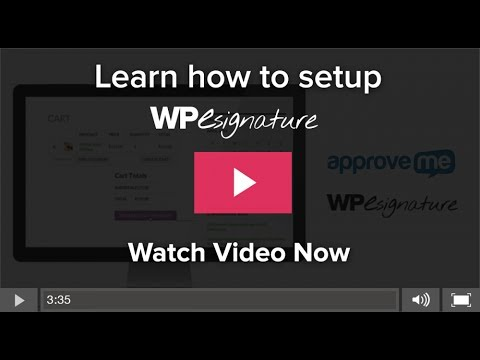 WordPress signature plugin