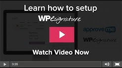 Wordpress Contract Plugin by Approve Me Tutorial