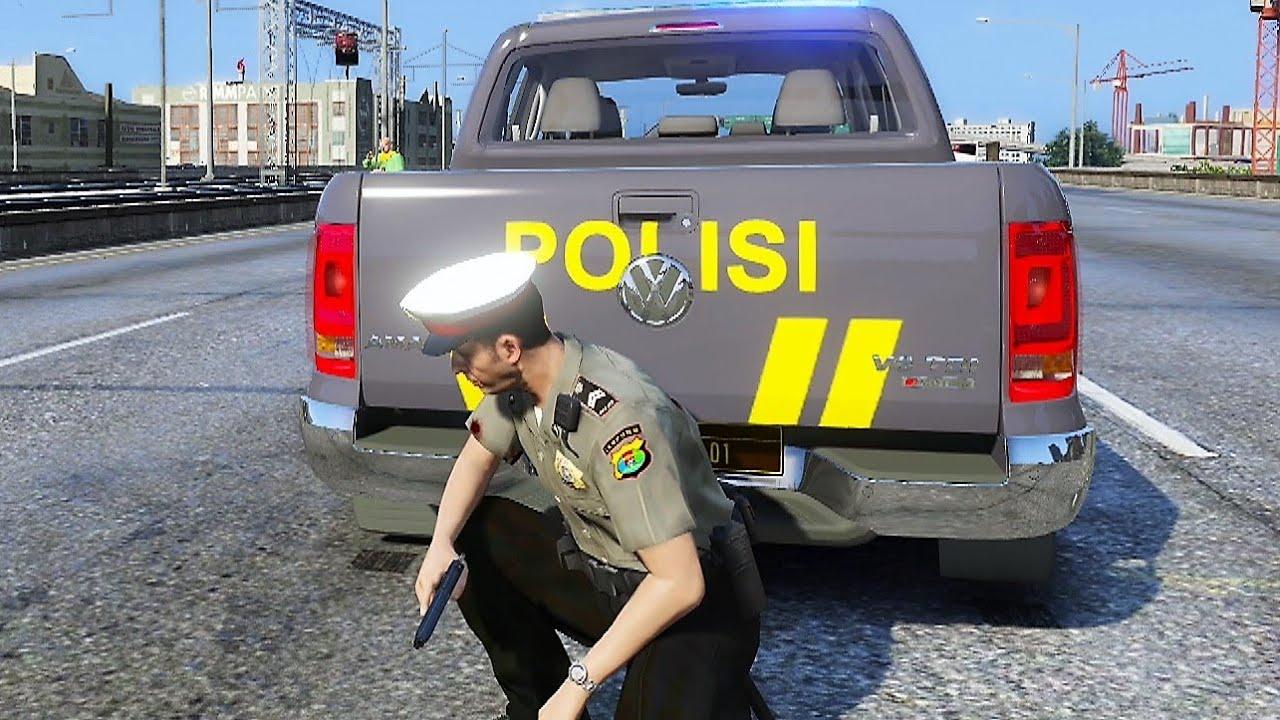 Penangkapan Begal Bersenjata Berujung Kecelakaan Maut ! GTA 5 Mod Polisi Indonesia