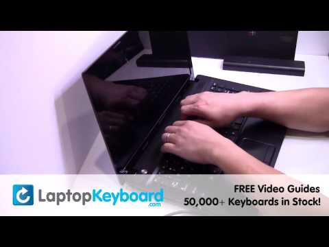 IBM Lenovo N580 Keyboard Installation N585 Replacement Guide - Laptop Remove Replace Install