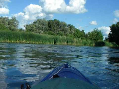 Река Медведица 2017.Первый малый перекат в Жирновске