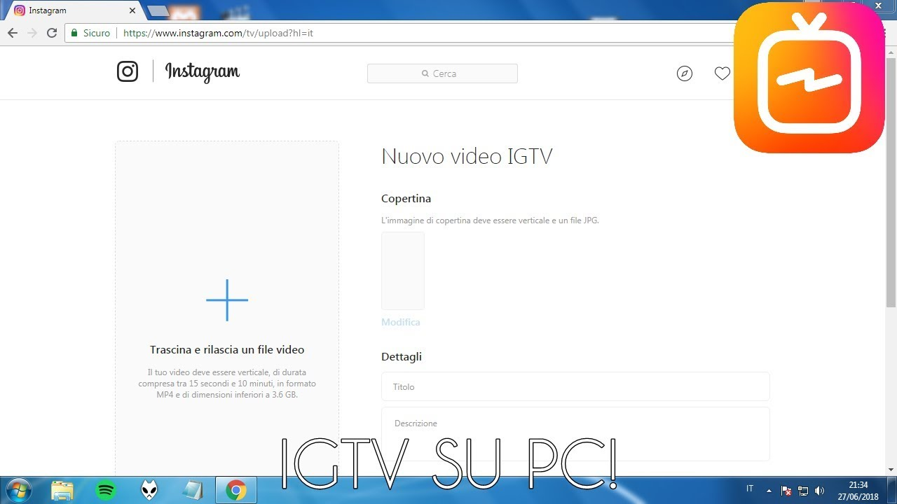 Caricare Video Per Igtv Da Pc
