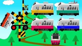 特急電車ガタンゴトン踏切アニメ | こどもアニメ | フレッシュひたち thumbnail