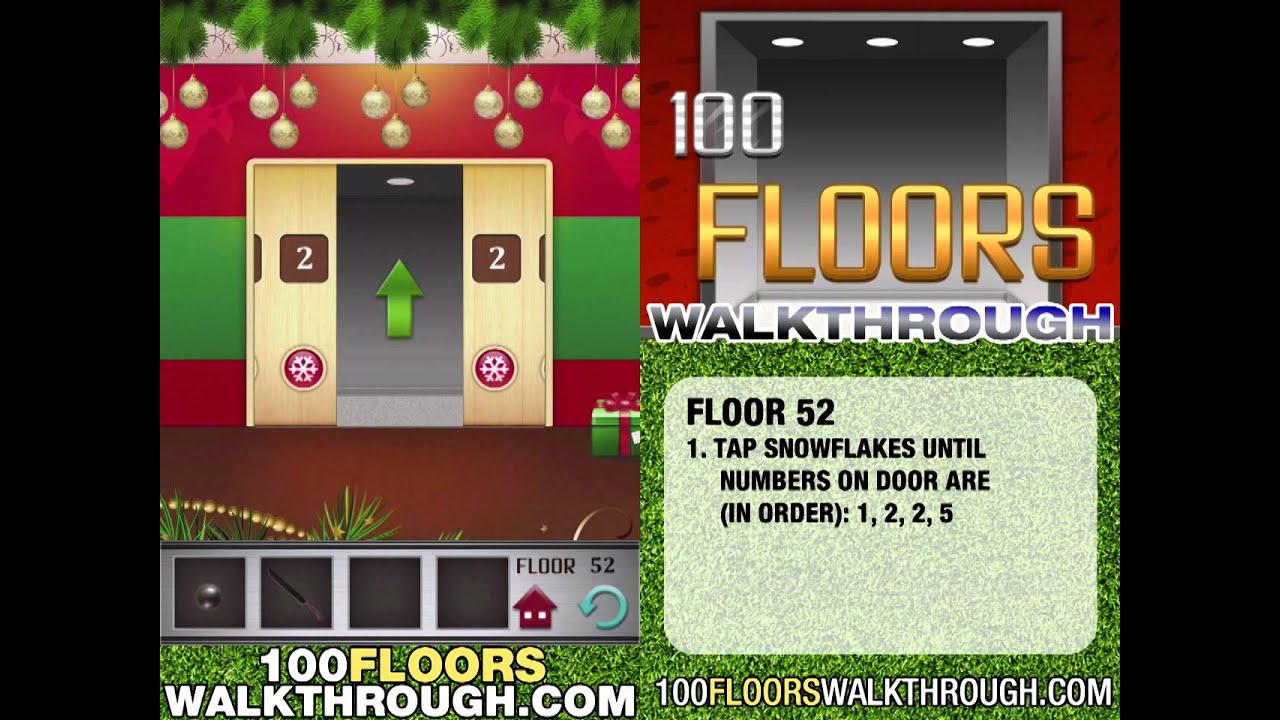 Floor 52 Walkthrough 100 Floors Walkthrough Floor 52