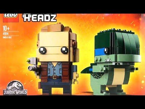 Jurassic World LEGO Brick Headz Owen and Blue 41614 - Lego Fallen Kingdom - Dinosaur Speed Build