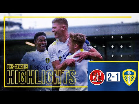 Pre-season highlights: Fleetwood Town 2-1 Leeds United |  Cresswell beheads gate for young whites