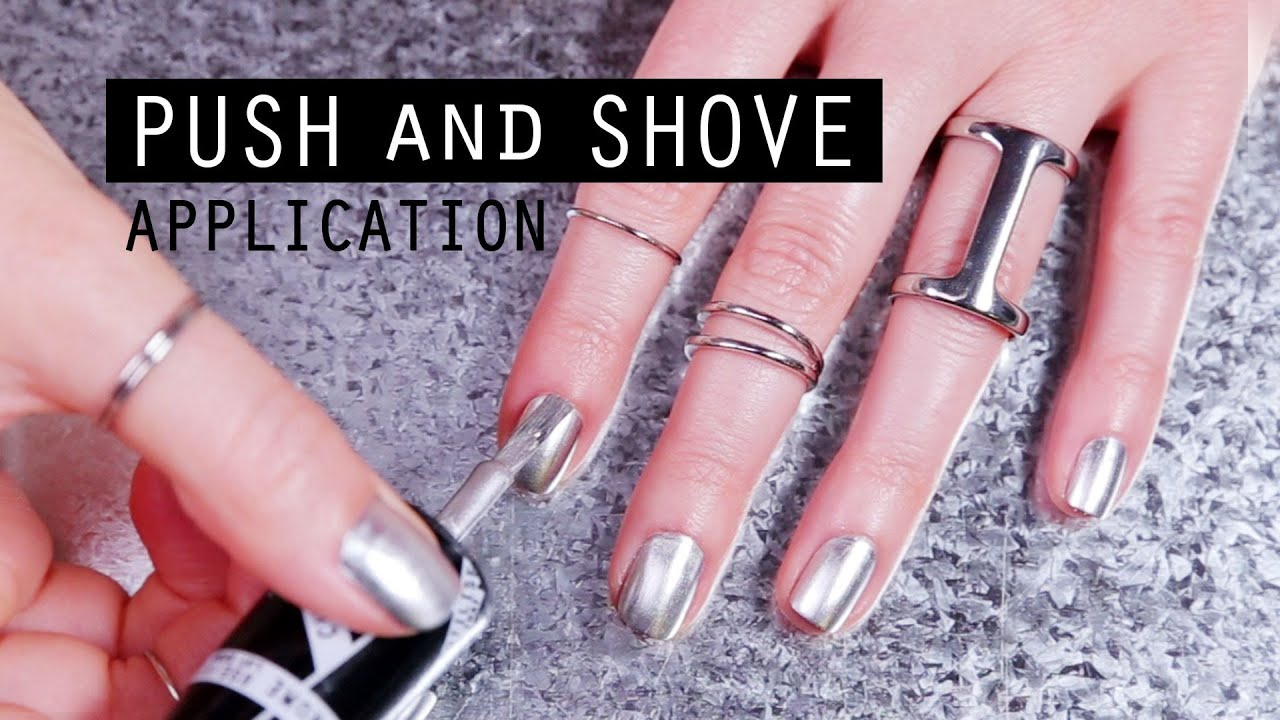 Try It On Push And Shove Chrome Nail Lacquer