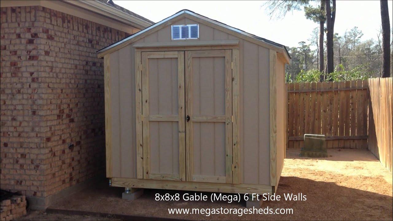 Garden Sheds Houston storage sheds houston, tx (8x8x8) - youtube