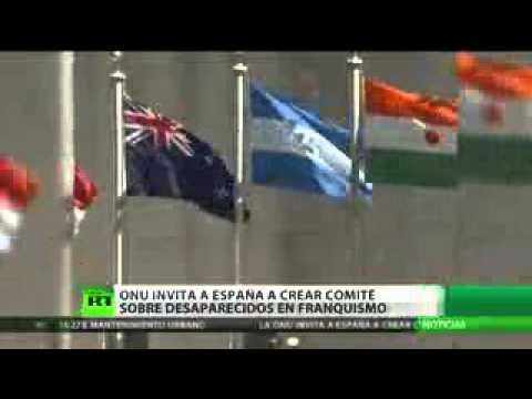La ONU insta a España a investigar las desapariciones del franquismo