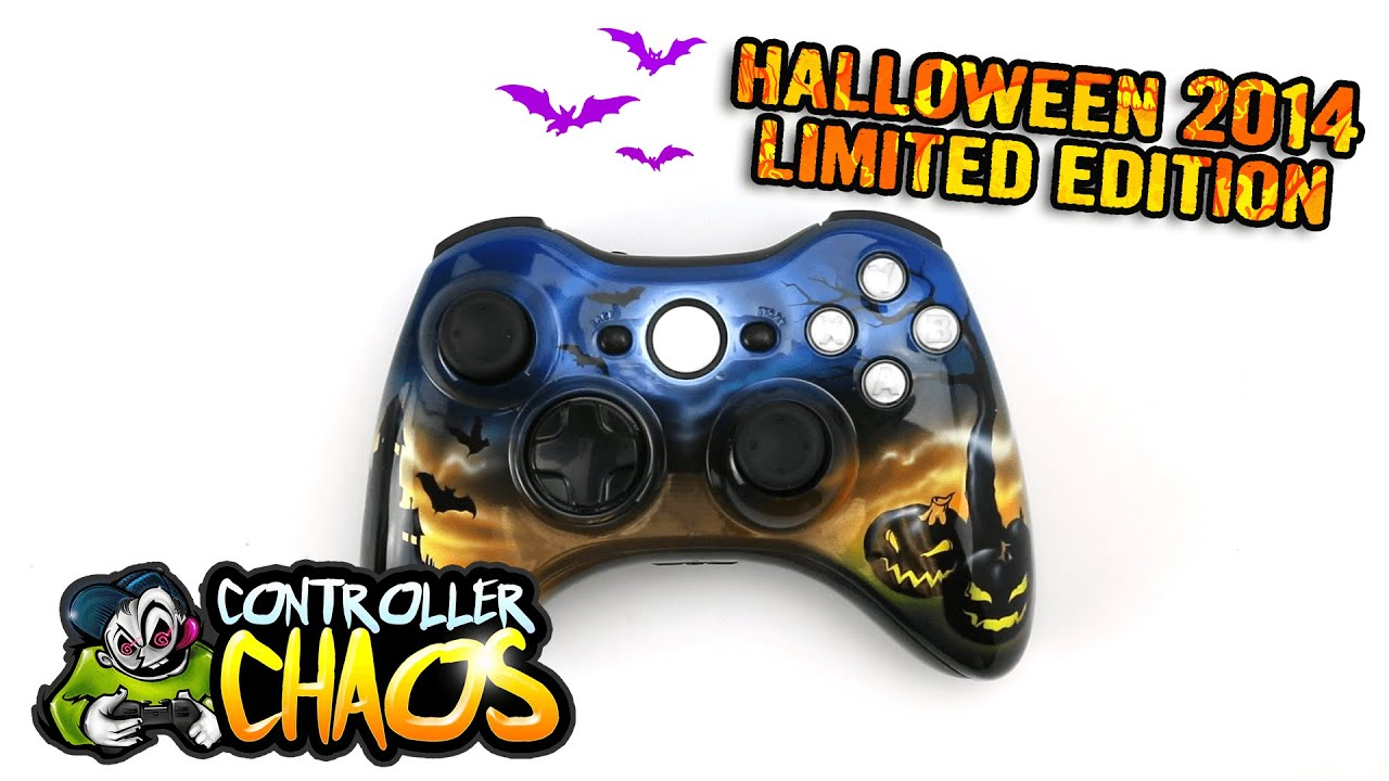 xbox 360 halloween 2014 limited edition modded controller controller chaos youtube - Halloween Xbox 360