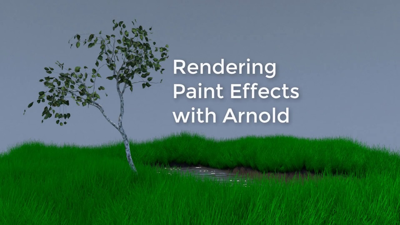 Rendering Paint Effects with Arnold in Maya 2018