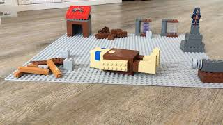 lego clash of clans base attack