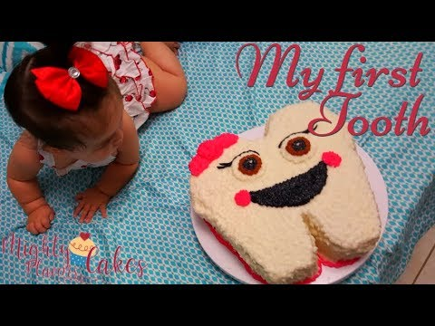 Decoration || My baby's first tooth / Puertorican Cake ...