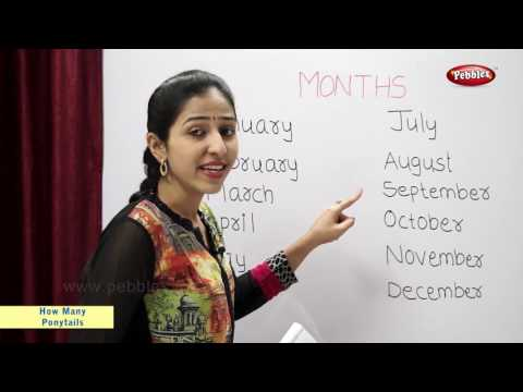 Count the Number of Letters in Month Names | Maths For Class 2 | Maths Basics For CBSE Children