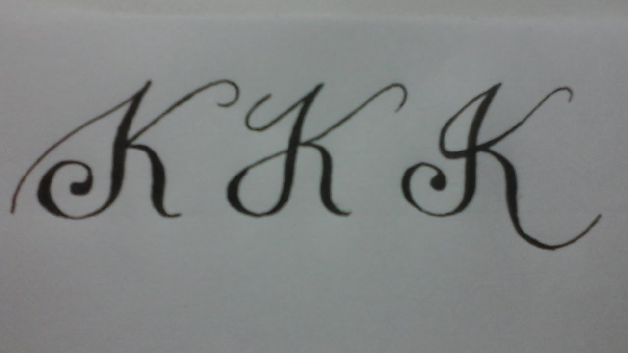 Calligraphy Letter K With Normal Pen Youtube