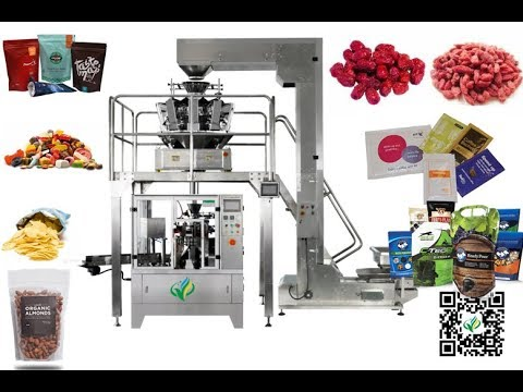 Automatic Dates Packaging Line Rotary flat bag packer doypack machine sac premade Packer
