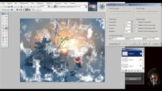 Paint.Net  Урок 2  Новогодняя ОТКРЫТКА