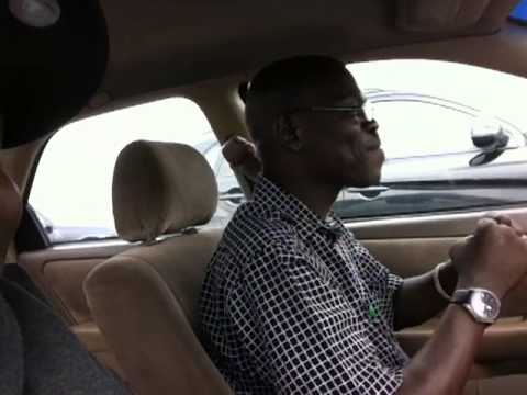 Riding with Lagos cab driver from airport