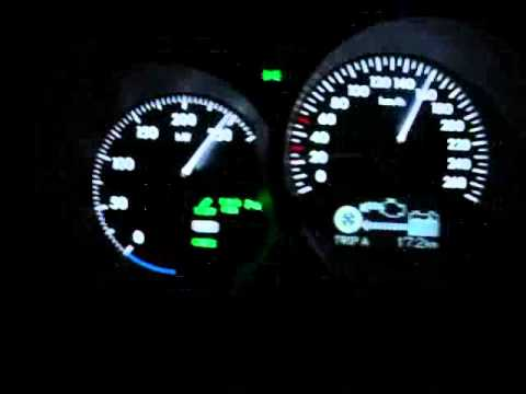 Lexus GS450h - acceleration 0-250 km/h (speed limiter)