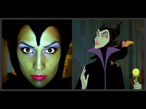 Maquillage d 39 halloween sorci re belle au bois dormant youtube - Blanche neige halloween ...