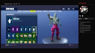 All my skins and all my other stuff on Fortnite