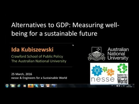 Alternatives to GDP: Measuring wellbeing for a more sustaina