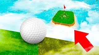 МЕГА ШИКАРНОЕ ПОПАДАНИЕ В ОВЕР 99% СЛОЖНУЮ ЛУНКУ С ОГРОМНОЙ ВЫСОТЫ В ГОЛЬФ ИТ (Golf It)