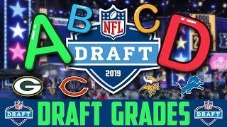 2019 NFL Draft Grades Winners & Losers NFC NORTH Bears Vikings Packers Lions Draft
