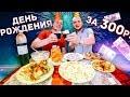День Рождения за 300 рублей праздничный Бомж стол