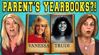 TEENS REACT TO THEIR PARENT'S YEARBOOKS