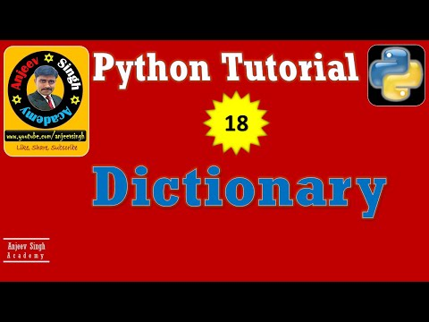 Dictionary in Python | Python Tutorial 18 | Complete Dictionary in one Video thumbnail