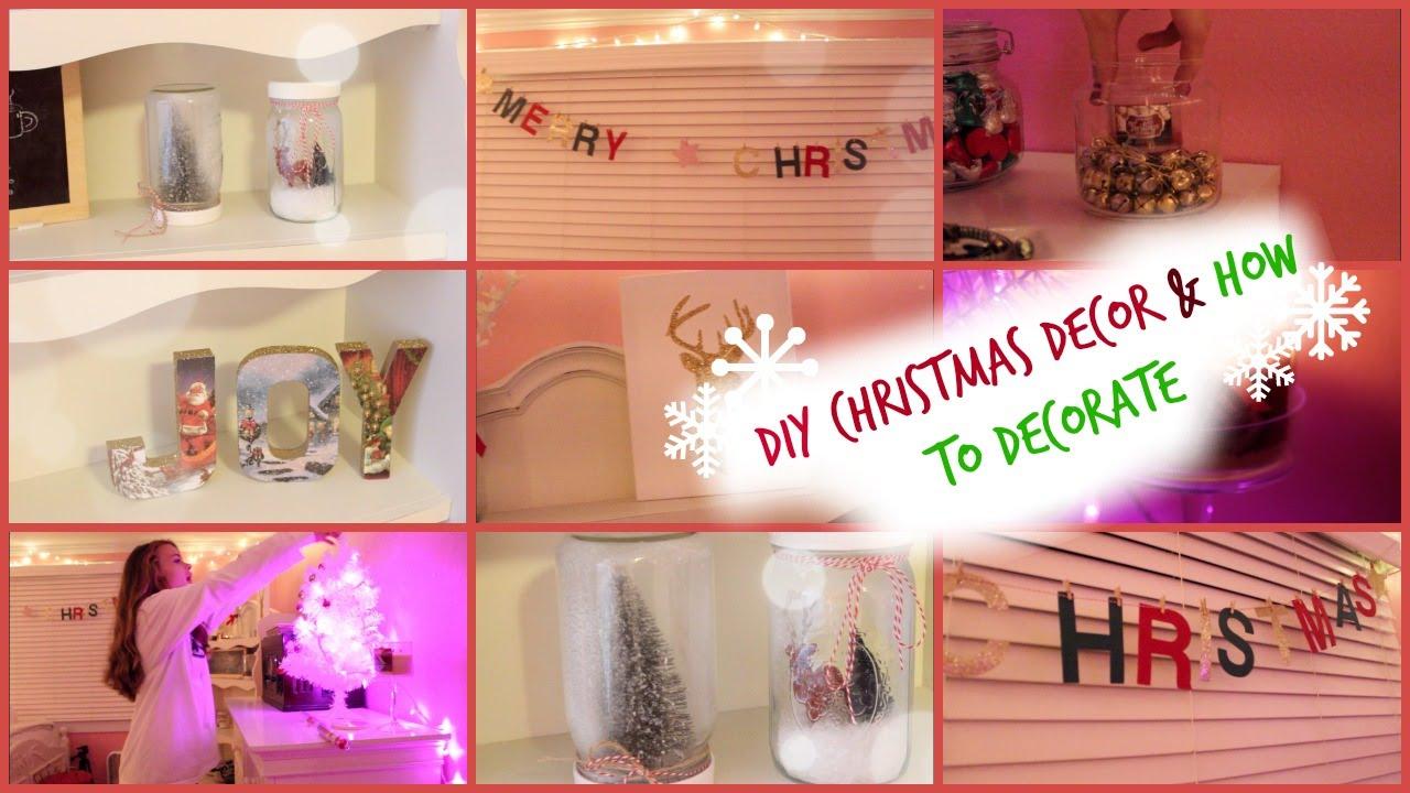 diy christmas room decorhow i decorate youtube