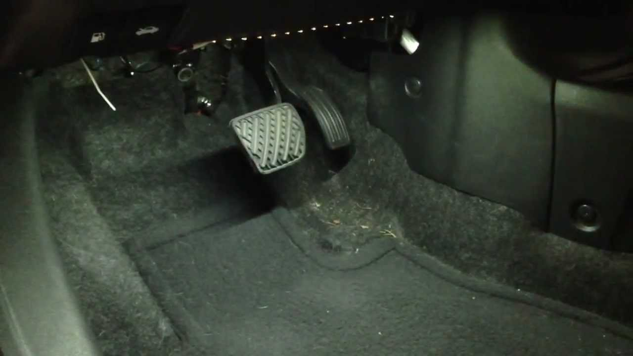 Footwell Led Strip Installation Simple Youtube
