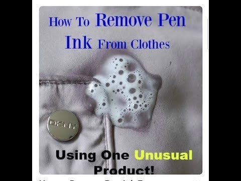 How to remove pen ink from clothes | 4 ways to remove pen ink from clothes