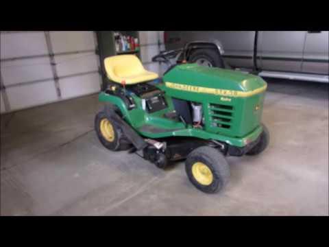 John Deere STX38 Hood Repair - YouTube
