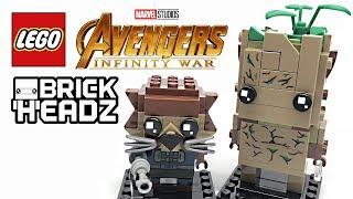 LEGO Groot & Rocket Raccoon BrickHeadz review! 2018 set 41626!