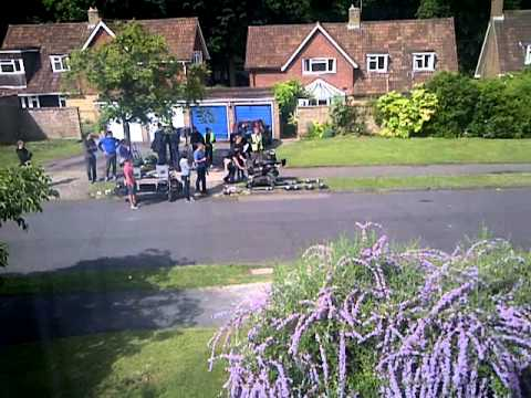 Ford advert filming outside our house!