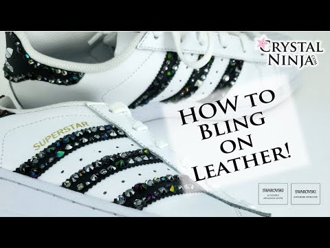 How to Bling shoes! Leather and Rubber SOLVED by Crystal Ninja Super Flex Glue