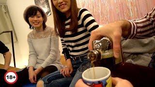 Учу японок пить по взрослому. Традиционная домашняя вечеринка