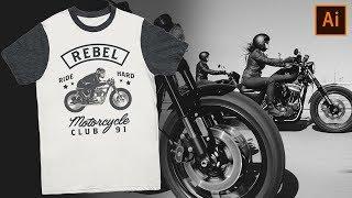 T-Shirt Design For Beginners - Adobe Illustrator CC (ep.1)