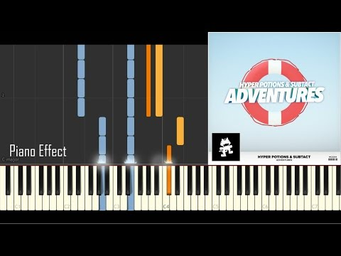 Hyper Potions & Subtact - Adventures (Piano Tutorial Synthesia)